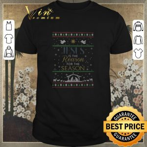 Top Jesus is the reason for the season ugly Christmas shirt sweater