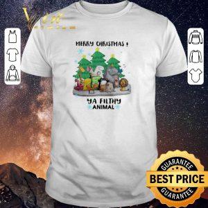 Top Merry Christmas Ya Filthy Animal shirt sweater