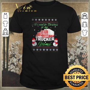 Top Ugly Snowman all i want for Christmas is my trucker home sweater