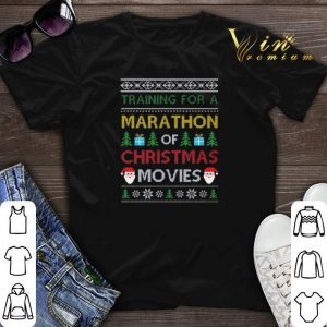 Training for a marathon of Christmas movies ugly shirt sweater
