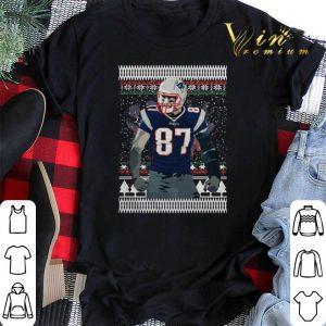 Ugly Christmas Rob Gronkowski 87 New England Patriots sweater