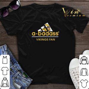 adidas a-badass Vikings fan Minnesota Vikings shirt sweater