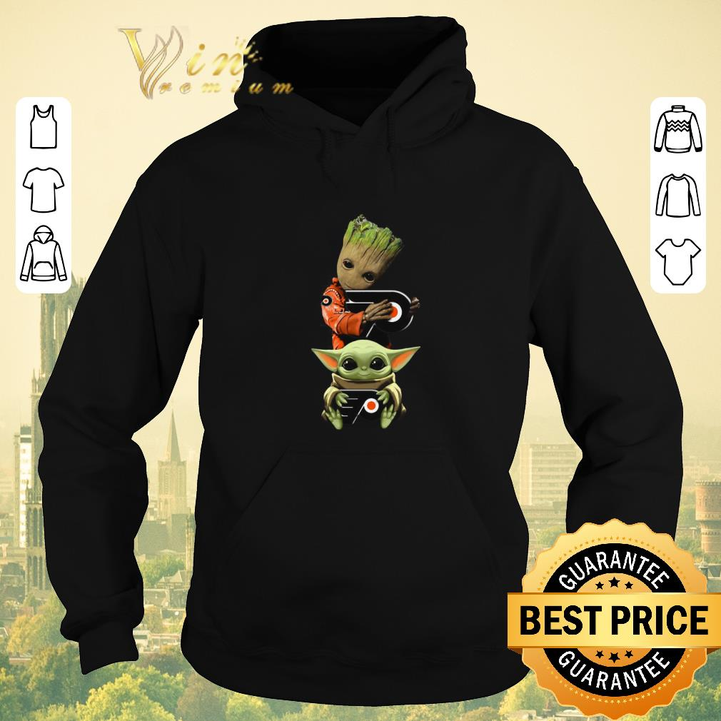 Awesome Baby Yoda and Baby Groot hug Philadelphia Flyers Star Wars shirt sweater 4 - Awesome Baby Yoda and Baby Groot hug Philadelphia Flyers Star Wars shirt sweater