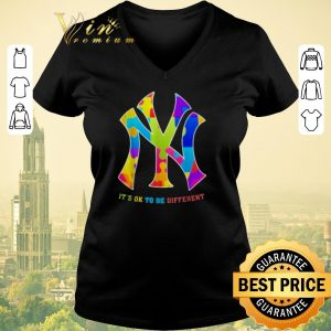 Funny Autism New York Yankees It's Ok To Be Different shirt sweater
