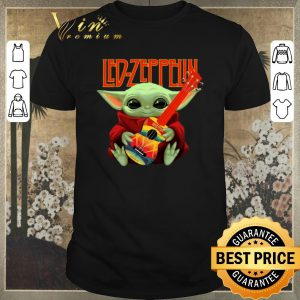 Funny Baby Yoda Hug Led Zeppelin Guitar Star Wars shirt sweater