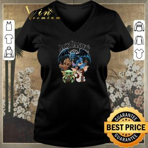 Hot Jack Daniel's Baby Yoda Baby Groot and Toothless Stitch Gizmo shirt sweater
