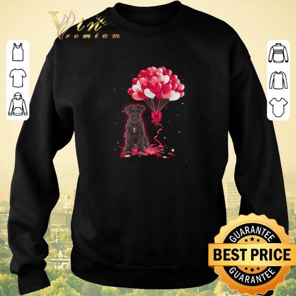 Official Miniature Schnauzer dog Love Balloons heart shirt sweater