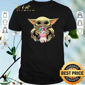 Original Star Wars Baby Yoda Hug Unicorn shirt sweater