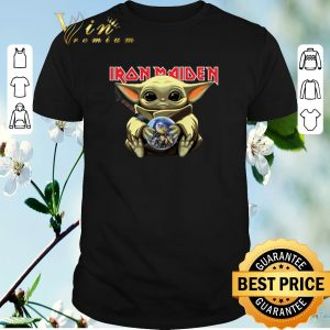 Premium Baby Yoda hug Iron Maiden Star Wars Mandalorian The Child shirt sweater