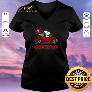 Premium Snoopy Driving Volkswagen San Francisco 49ers shirt sweater