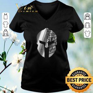 Premium Warrior i'm no longer a slave to fear i'm a child of god shirt sweater