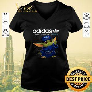 Pretty Adidas All Day I Dream About Subaru Baby Yoda shirt sweater