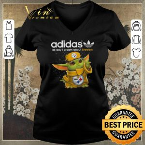 Pretty Baby Yoda adidas all day i dream about Pittsburgh Steelers shirt sweater