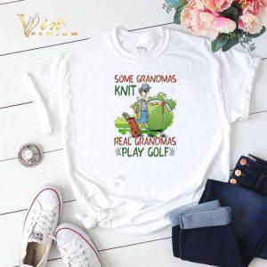 Some grandmas knit real grandmas play golf shirt sweater
