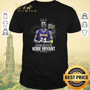 Awesome Heroes come and go Legends Never Die King Kobe Bryant 1978 2020 shirt sweater