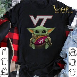 Baby Yoda Hug Virginia Tech Ball Logo Star Wars shirt sweater