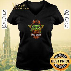 Funny Baby Yoda Biker Motor Harley Davidson Company shirt sweater