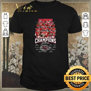Funny Chiefs Super Bowl Champions 2020 signatures Kansas City Chiefs shirt sweater