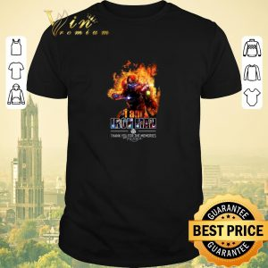 Funny I am iron man thank you for the memories signature shirt sweater
