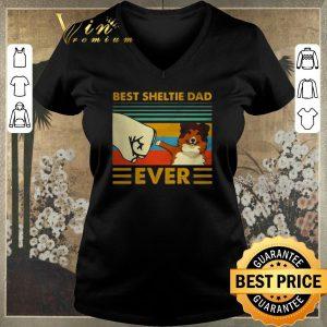 Hot Best Sheltie dad ever vintage shirt sweater