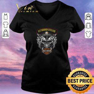 Hot Skull Pittsburgh Steelers Mashup Motor Harley Davidson Company shirt sweater