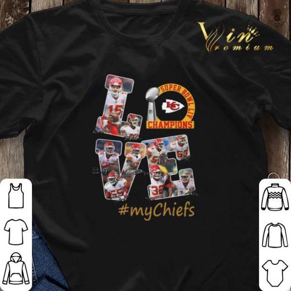 Love Super Bowl Champions signature #mychiefs Kansas City Chiefs shirt sweater