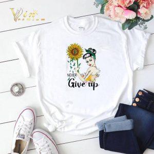 Never Give Up Liver Cancer Mom Cancer Awareness Girl Sunflower shirt sweater
