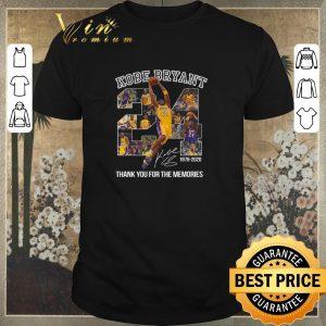 Nice 24 Kobe Bryant signature 1978-2020 thank you for the memories shirt sweater