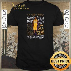 Nice 5x NBA Champ 2x finals 2008 MVP 15x 18x all NBA Star Kobe Bryant shirt sweater