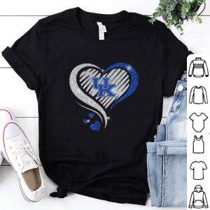 Nice Love Kentucky Wildcats diamond heart shirt