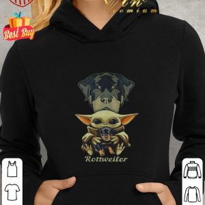 Official Baby Yoda hug Rottweiler dog Star Wars shirt