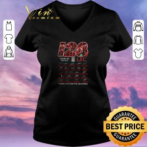Pretty 128 years of 1892 2020 Liverpool Club thank you for the memories signatures shirt sweater