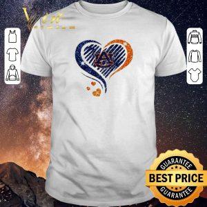 Pretty Diamond heart Auburn Tigers Lover shirt sweater