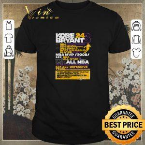Pretty Kobe Bryant 24 8 5X NBA Champion 2X NBA Finals Most Valuable shirt sweater