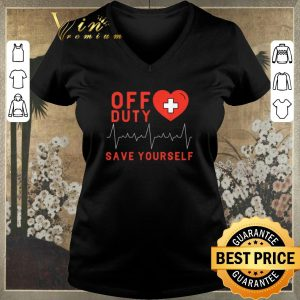 Pretty Off Duty Save Yourself Nurse Heartbeat shirt sweater