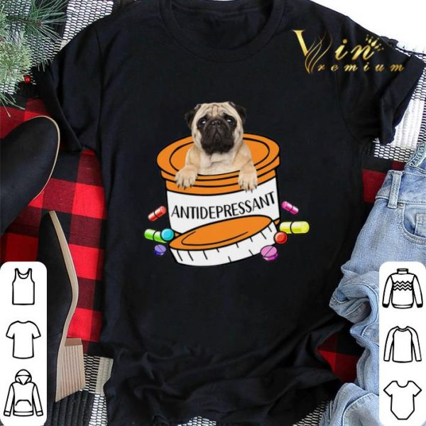 Pug dog Antidepressant Pills shirt sweater