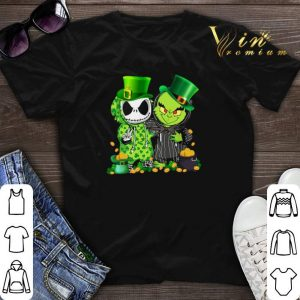 St Patrick's Day Baby Jack Skellington and Baby Grinch shirt sweater