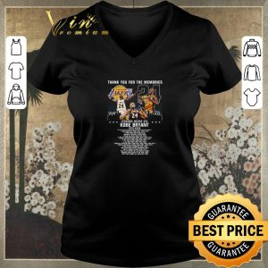 Top Thank you for the memories legends never die Kobe Bryant 1978-2020 shirt
