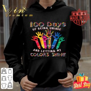 100 Unique Days Of School My Colors Shining Autism Awareness shirt