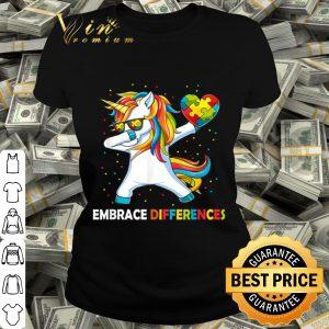 Autism Awareness Embrace Differences Dabbing Unicorn shirt