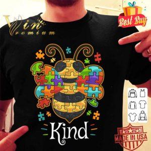 Autism Awarenesss Bumble Bee Be Kind Autistic shirt
