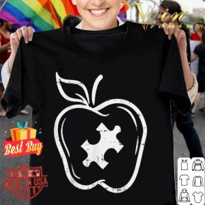 Autism Teacher Special Education Awareness Apple Gift shirt