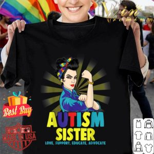 Autistic Autism Awareness Sisters Women Girl shirt