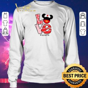 Awesome Love Mickey mouse Nurselife shirt sweater 2