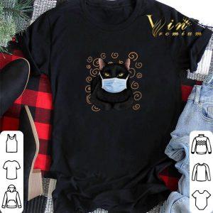 Black cat face mask shirt sweater