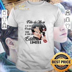 Cool Betty Boop Fille de Mars Je Ne Suis Pas Parfaite Mais Je Suis shirt