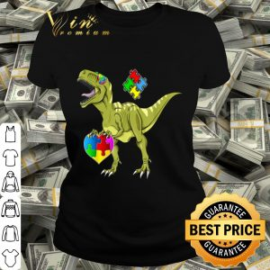 Dinosaur Puzzle Pieces Autism Awareness shirt
