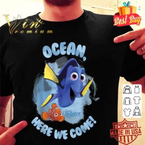 Disney Finding Dory Ocean Here We Come Graphic shirt