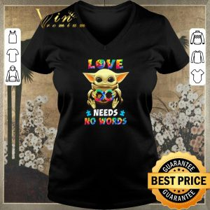 Funny Baby Yoda Autism love needs no words Star Wars shirt sweater