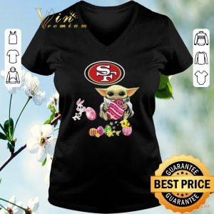 Funny Baby Yoda Hug San Francisco 49ers eggs Fertility at Easter shirt sweater